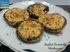 bacon and cheese stuffed portobello mushrooms
