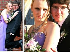 Prom Flowers - Wrist corsage and matching boutonniere for prom.