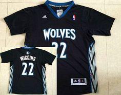 Men's Minnesota Timberwolves #22 Andrew Wiggins Revolution 30 Swingman 2014 New Black Short-Sleeved Jersey