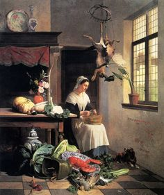 David Emile Joseph de Noter (1818-1892), A Maid In The Kitchen---Being in Service in Victorian England