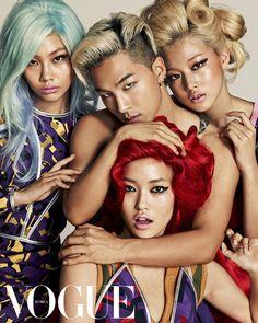 Bigbang's Taeyang, Yeo Hyewon, Jung Hoyeon, Seon Hwang and Choi Ara for Vogue Korea July 2014 by Hong Jang Hyun