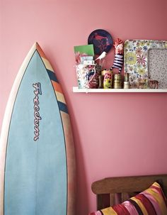 lovely pink wall #decor #pink #painting