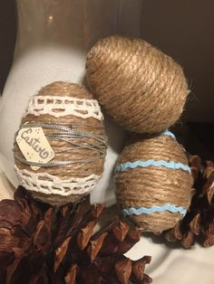 A personal favorite from my Etsy shop https://www.etsy.com/listing/263141365/handcrafted-rustic-twine-easter-eggs