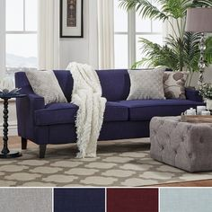 INSPIRE Q Winslow Concave Arm Modern Sofa | Overstock.com Shopping - The Best Deals on Sofas & Loveseats