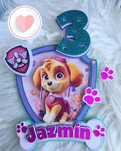 Sky Paw Patrol, Paw Patrol Party, Shaker Cards, Silhouette Cameo Projects, Frozen Party, 2nd Birthday, Cake Toppers, Diy, Crafts