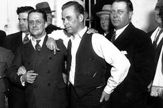 John Dillinger in court in Crown Point, Indiana. 1934.