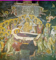 In the Sopocani Monastery Russian Icons, Byzantine Art, Orthodox Icons, Medieval Art, Sacred Art, Mosaics, Christian, God, Places