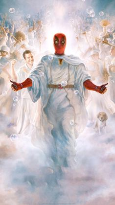 Check out this awesome collection of Deadpool In Heaven Wallpaper is the top choice wallpaper images for your desktop, smartphone, or tablet. Deadpool Wallpaper, Cartoon Wallpaper, Marvel Wallpaper, Deadpool Art, Deadpool Funny, Deadpool Pictures, Heaven Wallpaper, Dope Wallpapers, Wallpaper Wallpapers