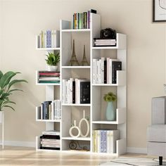 Tree Bookshelf, Modern Bookshelf, Step Bookcase, Wall Mounted Bookshelves, Bookcases, Display Shelves, Storage Shelves, Storage Spaces, Ladder Shelves