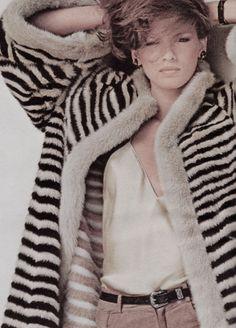 "Vogue US October 1978 ""The Best Furs Yet"" Model: Gia Carangi Photographer: Stan Malinowski"