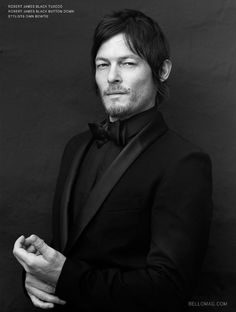 Sometimes the suit makes the man... Norman Reedus does things to a suit that should be downright illegal!