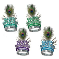 Peacock New Year's Eve Tiaras (50ct)