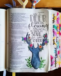 PSALM by bailey_sturgeon I remember seeing this verse in my bible, i May look to color that.