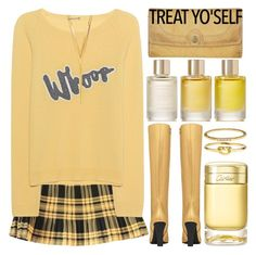 """""""It`s Time to Treat Yo`Self"""" by grozdana-v ❤ liked on Polyvore featuring Juvia, BERRICLE, Yves Saint Laurent, Aromatherapy Associates, Cartier, Accessorize, Frye and treatyoself"""