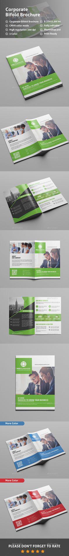 Bi Fold Brochure Template Corporate Brochure Template by Pixelpick.