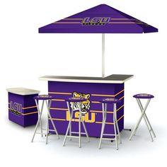 Ncaa Louisiana Lsu Tigers Portable Deluxe Tailgate Bar