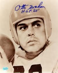Otto Graham Hand Signed Photo Football Hall of Fame Cleveland Browns QB Cleveland Team, Cleveland Browns Football, Cincinnati Reds, Nfl Football, Football Players, Cleveland Rocks, School Football, Football Cards, Football Season