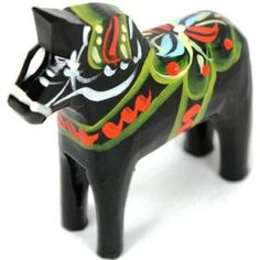 Traditional Wooden Swedish Dala Horse - reminds me of growing up.
