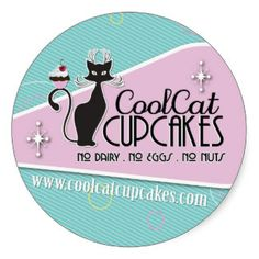 Cat Decals | Cool Cat Cupcakes Stickers