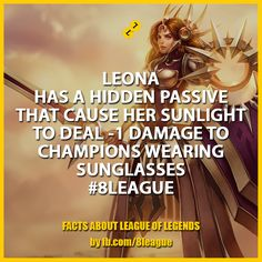 League Of Legends, Sunlight, Champion, Facts, Sunglasses, Movies, Movie Posters, How To Wear, Image