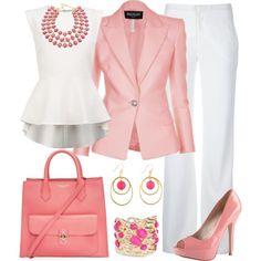Pink Blazer by angela-windsor on Polyvore