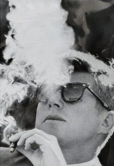 I'm a lifelong hater of smoking, but this JFK shot sure is cool