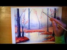Autumn Forest in Watercolor - painting process time lapse - YouTube