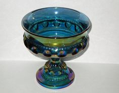 Blue Carnival Candy Dish Indiana Glass Vintage by BackNTimeVintage, $23.00