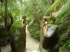 These mesmerizing sculptures are the work of William Ricketts, a rare Australian born in 1898 who was in awe of the connection the Aborigine people have with the land. Hidden deep within a lush Australian rainforest are a set of mystical Aborigine sculptures seemingly merged into the natural surroundings. Moss covered torsos of men, women and children protrude from tree trunks and boulders. Some reach heavenward with widespread wings, others envelop each other protectively – all are symbols of t