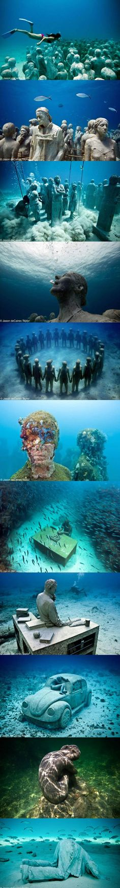 In 2009 a monumental underwater museum called MUSA (Museo Subacuático de Arte) was formed in the waters surrounding Cancun