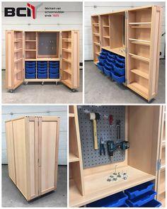 Workshop Storage, Storage Organization, Locker Storage, Art Classroom, Diy Furniture, Preschool, The Unit, Studio, House