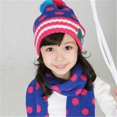 bf6861e15db Set of Kniting wool Earmuffed Warm Baby s Hats