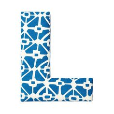 Found by Fab: Fabric Letter L Blue