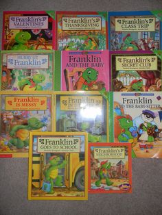 LOT 11 FRANKLIN The Turtle BOOKS by Paulette Bourgeois Scholastic