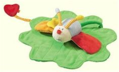 """HABA Lucky Muslin Beetle by HABA. $9.49. From the Manufacturer                Beetle and muslin of charming soft velour are an invitation to be cuddled over and over again!  Complete with a little bell and rustling foil.                                    Product Description                HABA 0990 - Beetle and muslin of charming soft velour are an invitaion to be cuddled over and over again! With little bell and rustling foil. Measures 10"""" in diameter. Recommended for 6 m..."""