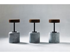 Stunning and original cork and concrete bar stool from South African Wiid design
