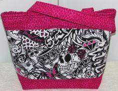 Graffiti Skater Girl Medium Tote Bag Punk Skulls by Mokadesigntotes, $38.00
