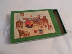 Vintage Hallmark, Hallmark stickers, Hallmark gift tags, 1950s Christmas, Christmas Decorations, Santa box, Christmas box, mini box, antique by DeliciasCastle on Etsy