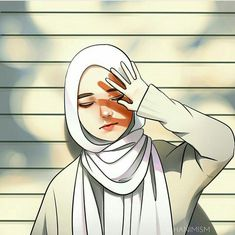 Oh no no no je ne veux pas bronzer Cute Cartoon Girl, Cartoon Art, Cartoon Images, Tmblr Girl, Muslim Pictures, Cover Wattpad, Hijab Drawing, Islamic Cartoon, Hijab Cartoon