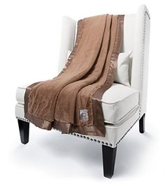 Giraffe At Home Luxe Plush Faux Fur Throw Blanket, Mocha, x Little Giraffe, Faux Fur Throw, Dusty Pink, Accent Chairs, Plush, Sofa, Blanket, The Originals, Bed
