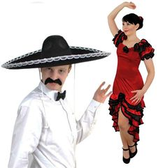nice       £22.99  COUPLES SPANISH MARIARCHI & SALSA DANCER FANCY DRESS COSTUMES - LADIES RED RUFFLE RUMBA DRESS + ROSE HAIRPIECE | MENS LARGE BL...  Check more at http://fisheyepix.co.uk/shop/couples-spanish-mariarchi-salsa-dancer-fancy-dress-costumes-ladies-red-ruffle-rumba-dress-rose-hairpiece-mens-large-black-sombrero-bowtie-moustache-by-ilovefancydress-mexican-ladies/