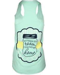 Alpha Xi Delta Found My Home Tank by Adam Block Design | Custom Greek Apparel & Sorority Clothes | www.adamblockdesign.com