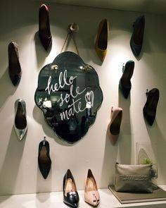 "BANANA REPUBLIC, Stanford Shopping Center,Palo Alto, California,USA, ""Hello Sole-Mate❤️"", pinned by Ton van der Veer"