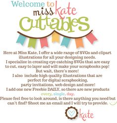 Miss Kate Cuttables | Scrapbooking SVG Files, Digital Scrapbooking, Cute Clipart, Daily SVG Freebies, Clip Art, SVG Files for Scrapbooking