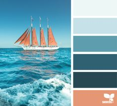 { color sail } image via: @danny_englander color combination, color palettes, color scheme, color inspiration, visual communication.