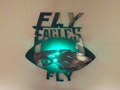 Philadelphia Eagles 2D wall art with led light by MetalArtDesignz
