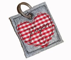KEYCHAIN Heart with your text design felthigh quality by NaehNu \u20ac7.90