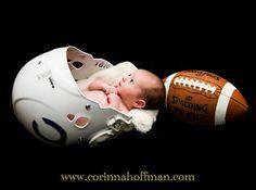 @ Corinna Hoffman Photography www.corinnahoffman.com - Baby in Football Helmet - Newborn Photo Session
