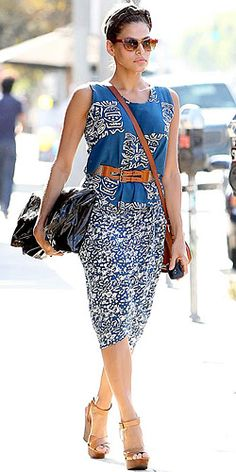 Eva Mendes rocking her summer style.