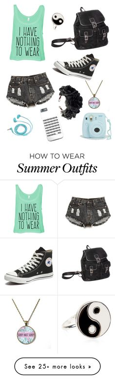 """Just so me"" by brokenwings17 on Polyvore featuring Forever 21, Converse, FOSSIL, Accessorize and Rock 'N Rose"